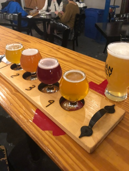 Sour Flight from Urban Family Brewery